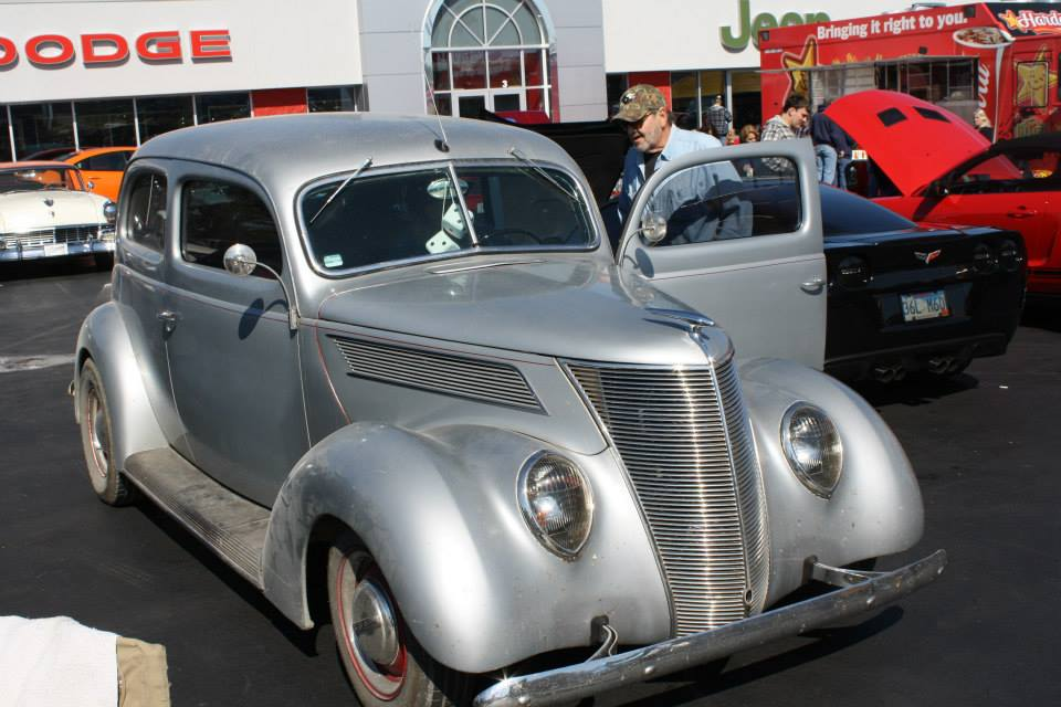 Ken Arrowsmith caught the '37 Sedan at a local car show, in Sullivan, MO.