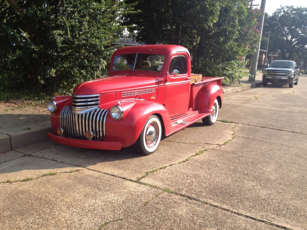 I spotted this '46 Chevy on the street in downtown Alexandria, LA.