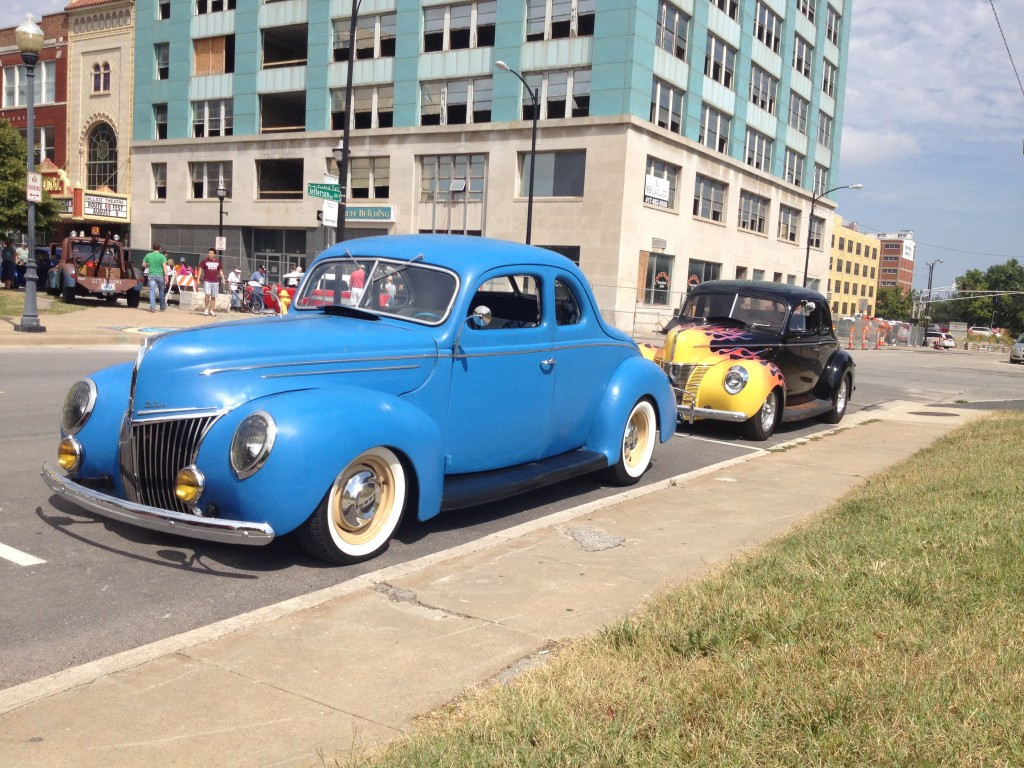 John Riggs '39 Deluxe Coupe and my '40 Deluxe.