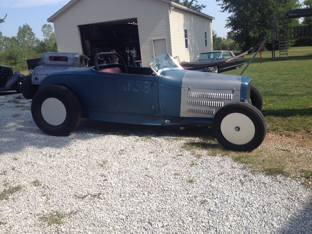 Nick Hoesing's awesome A Roadster, outside of Ryno's shop.
