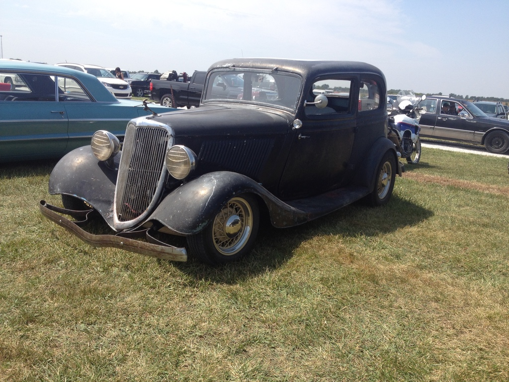 A very cool 34 Vicky that was in the spectator parking area.