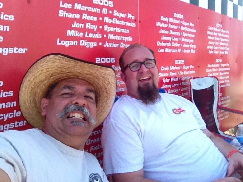Dan Hay and me, having fun and goofing around.
