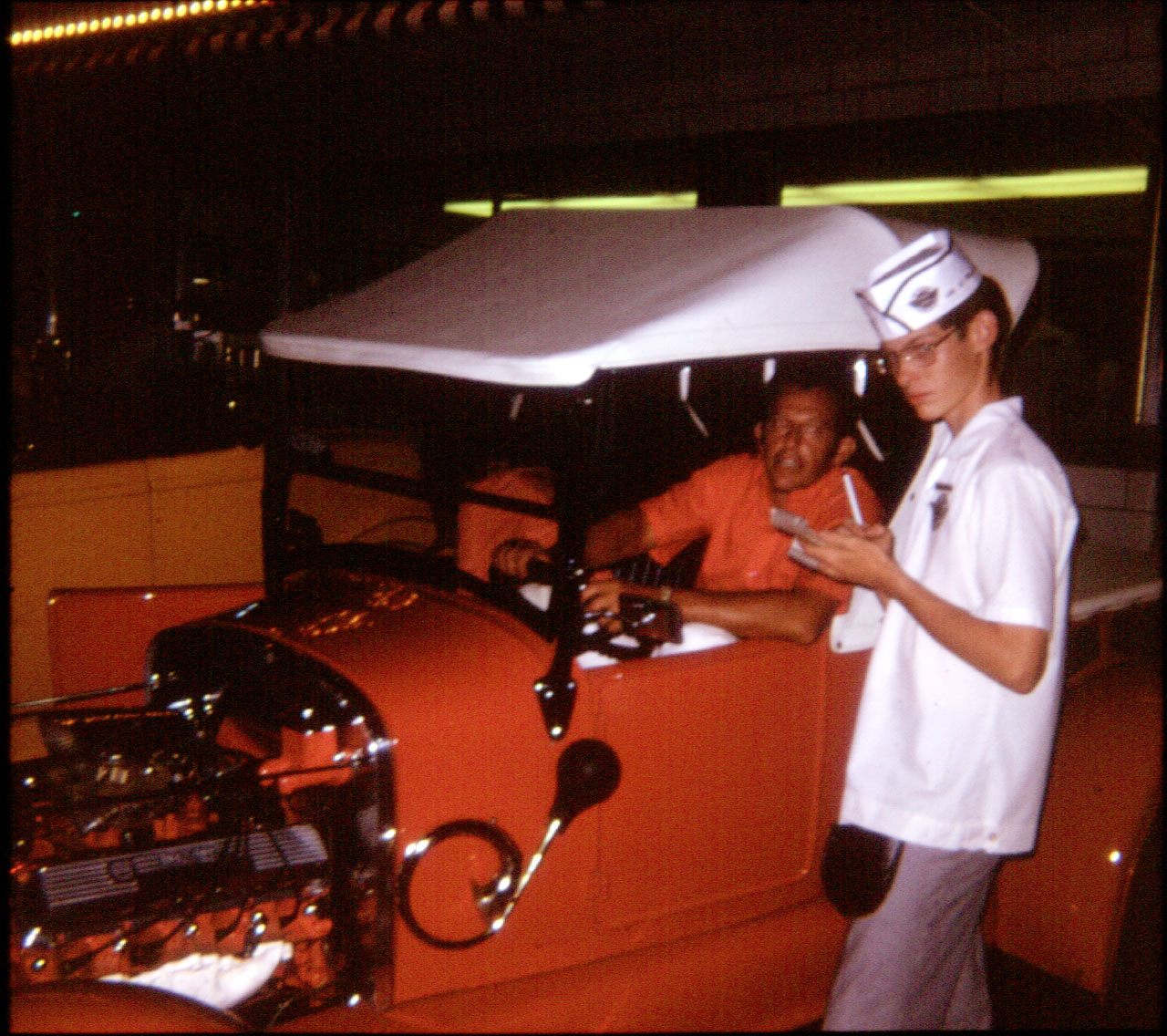 Paul Vitale, placing his order (His T roadster pickup is now owned by Ernie and Bobbie Maine, in Caney, KS, and is still DRIVEN)